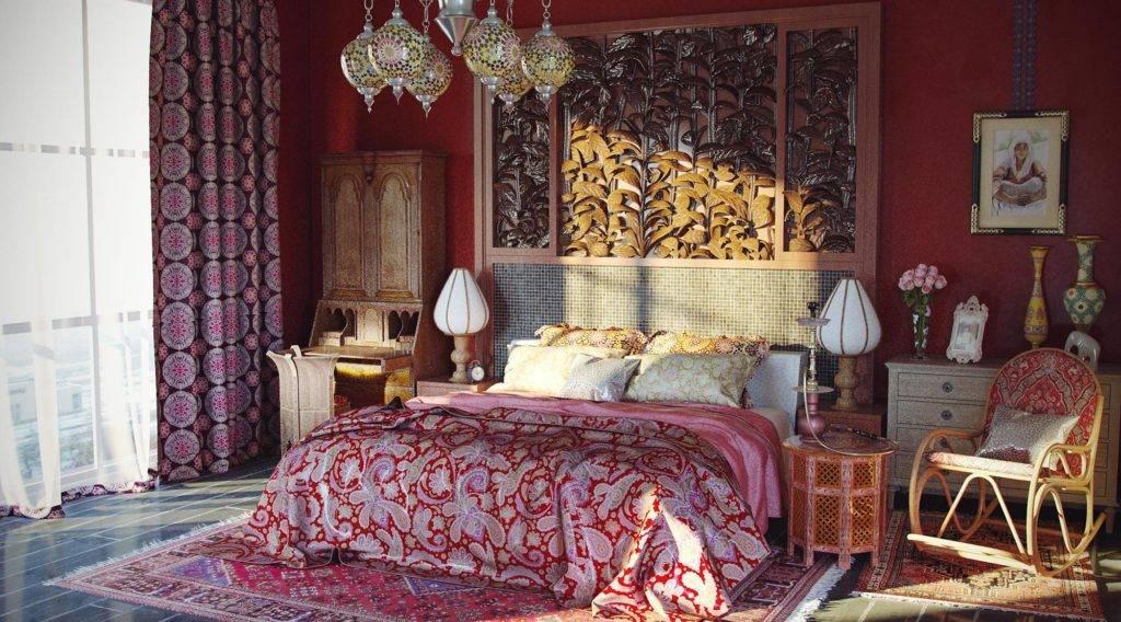 Тысяча и одна ночь в спальне в восточном стиле - 62 фото примера