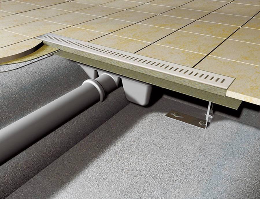 Как выбрать и установить трап для душа в полу под плитку