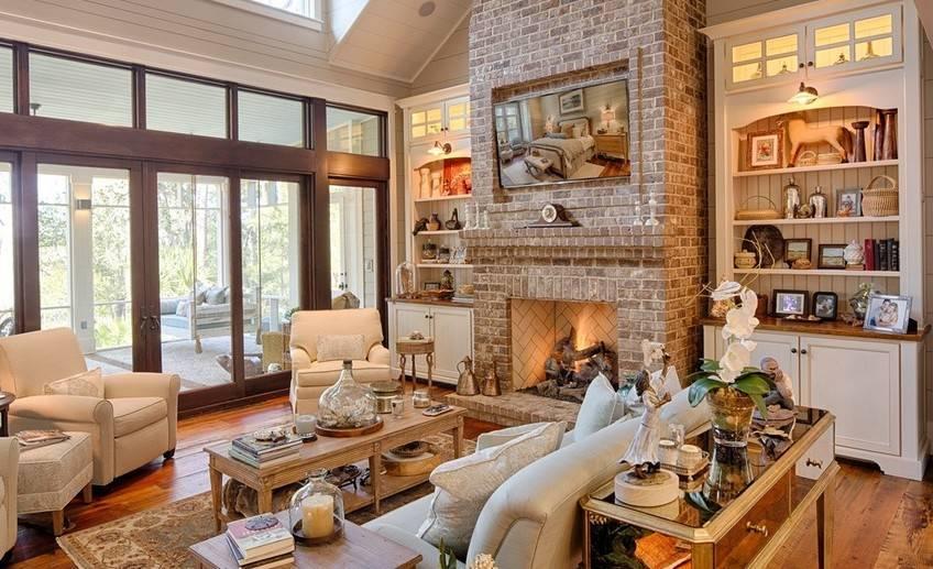 Как создать дизайн гостиной в стиле кантри?
