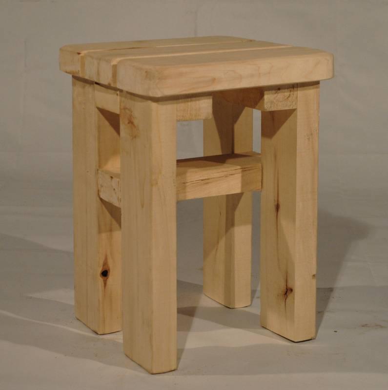 Как сделать табуретку из дерева своими руками дома