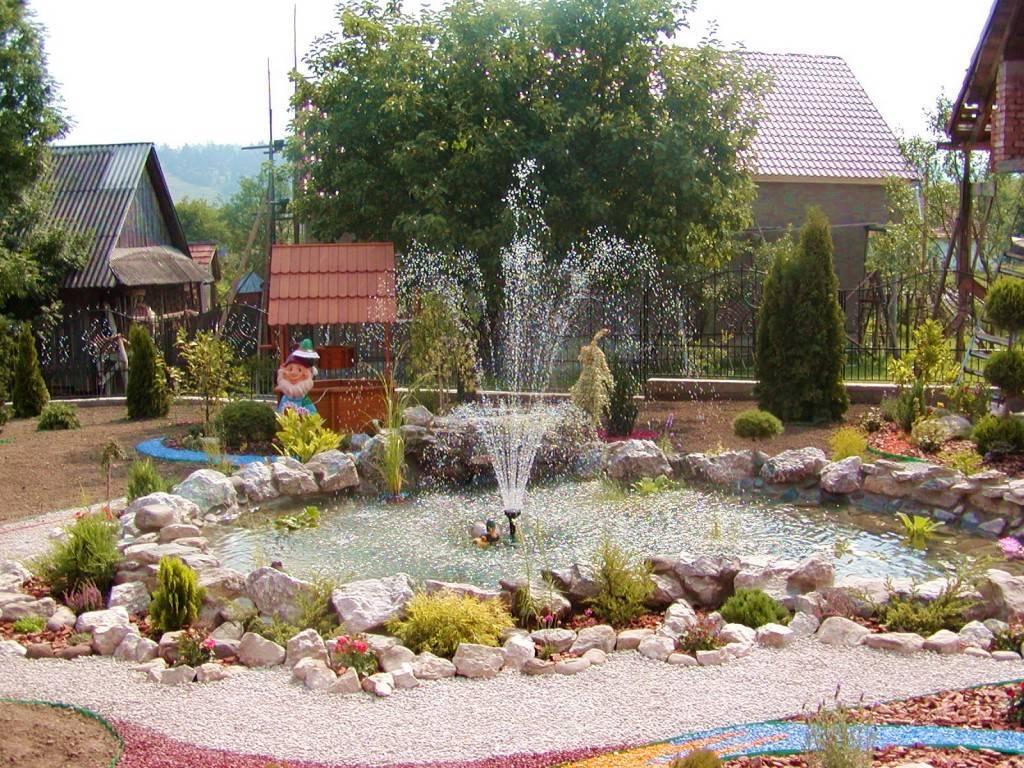 Декоративный фонтан на даче своими руками: пошаговый разбор этапов строительства