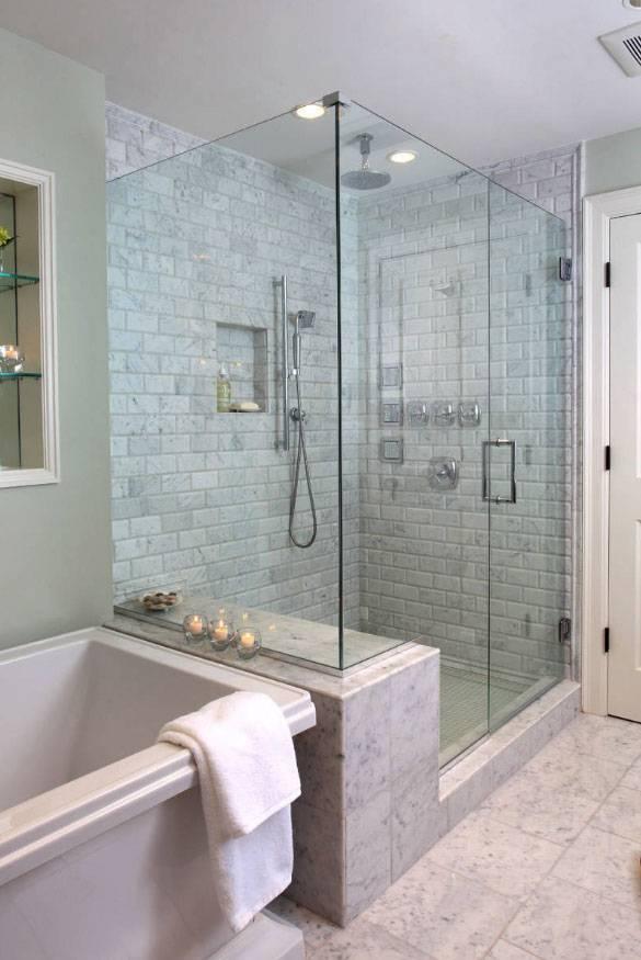 Дизайн маленьких ванных с душевыми кабинами: преимущества и недостатки, размещение, идеи интерьеров в ванной и фото