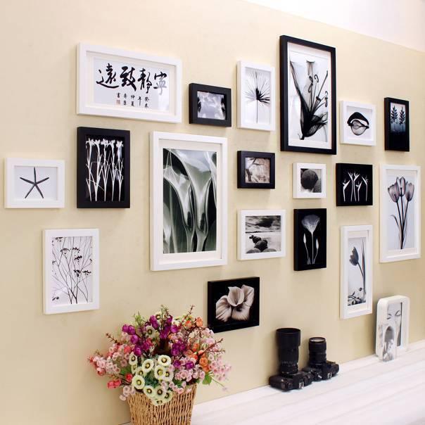Фоторамки на стену: 115 фото лучших идей и вариантов оформления стен