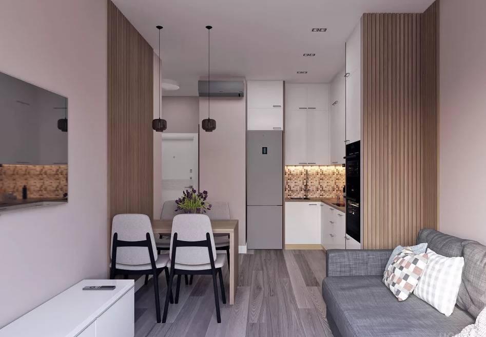 Интерьер однокомнатной квартиры 40 кв м фото в современном стиле - ремонт квартир фото