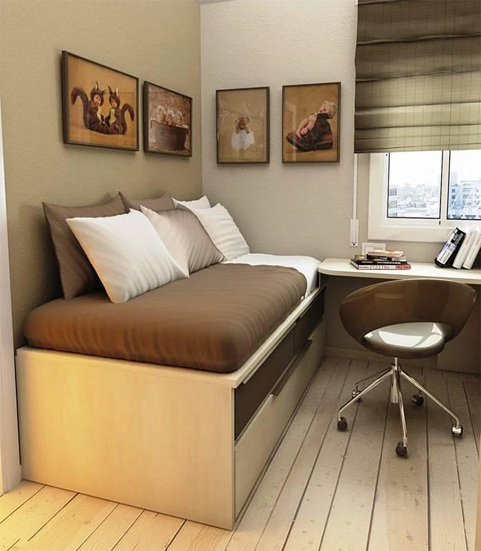 Дизайн однокомнатной квартиры с кроватью (48 фото): обустройство с двуспальной кроватью и диваном. чем можно отгородить? идеи интерьера и зонирование пространства