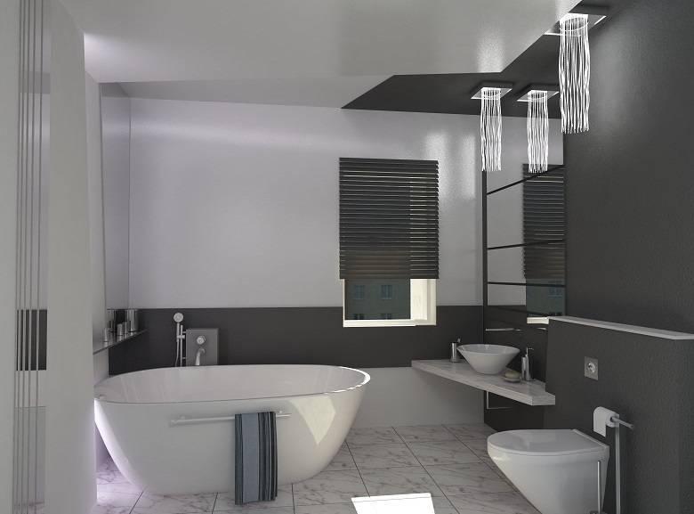 Стиль хай тек в ванной комнате – уют высоких технологий