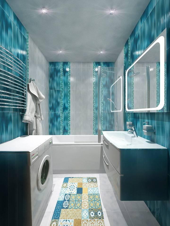 Дизайн ванной комнаты в бирюзовом цвете - интересные идеи оформления
