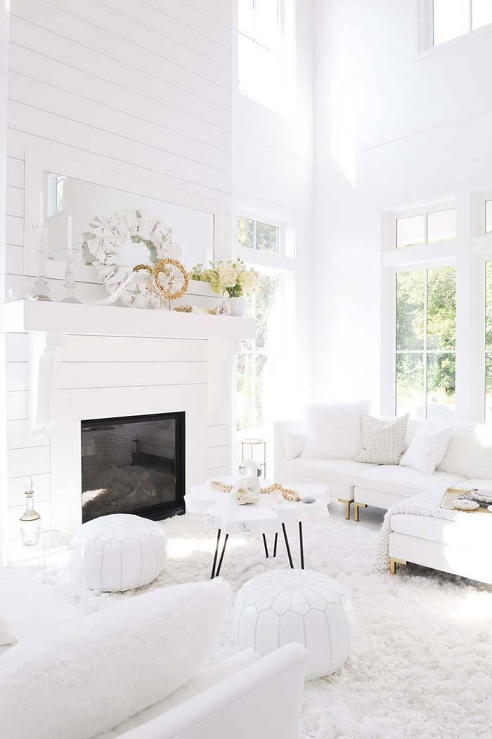 Белый цвет в интерьере: характеристика, сочетания, примеры, 50 фото