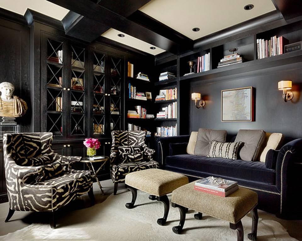Спальня в темных тонах: интерьер с мебелью - 30 фото