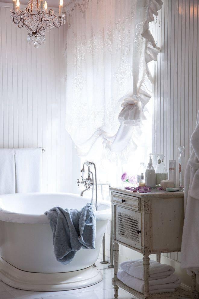 Ванная шебби шик: как создать стильный дизайн ванной комнаты - smallinterior