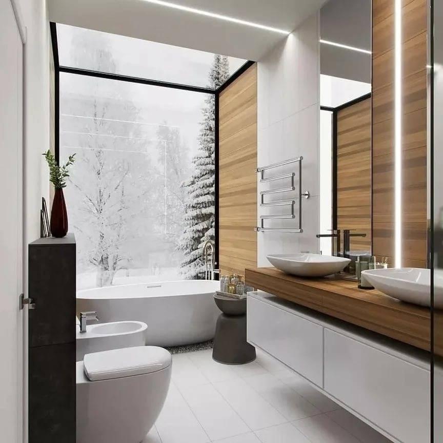 Дизайн ванной комнаты 2019 (80 фото) - современные идеи интерьеров, тренды в оформлении