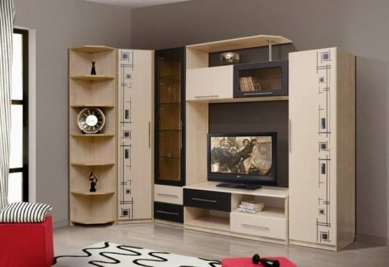 Современные модульные стенки в гостиную (51 фото): глянцевые и угловые мини-горки, новинки 2021 для зала, современные варианты в интерьере