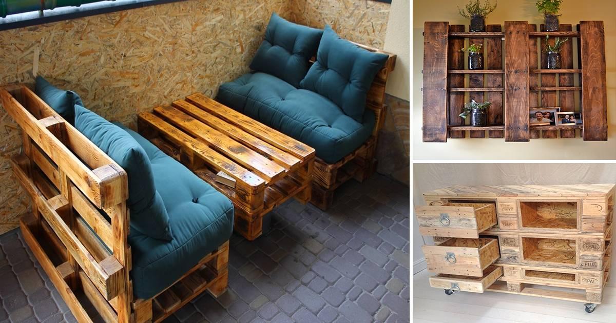 Мебель из поддонов своими руками: пошаговый процесс изготовления основных элементов мебели