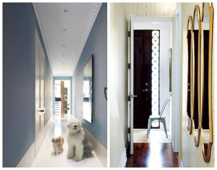 Дизайн коридора в квартире с комбинированными обоями