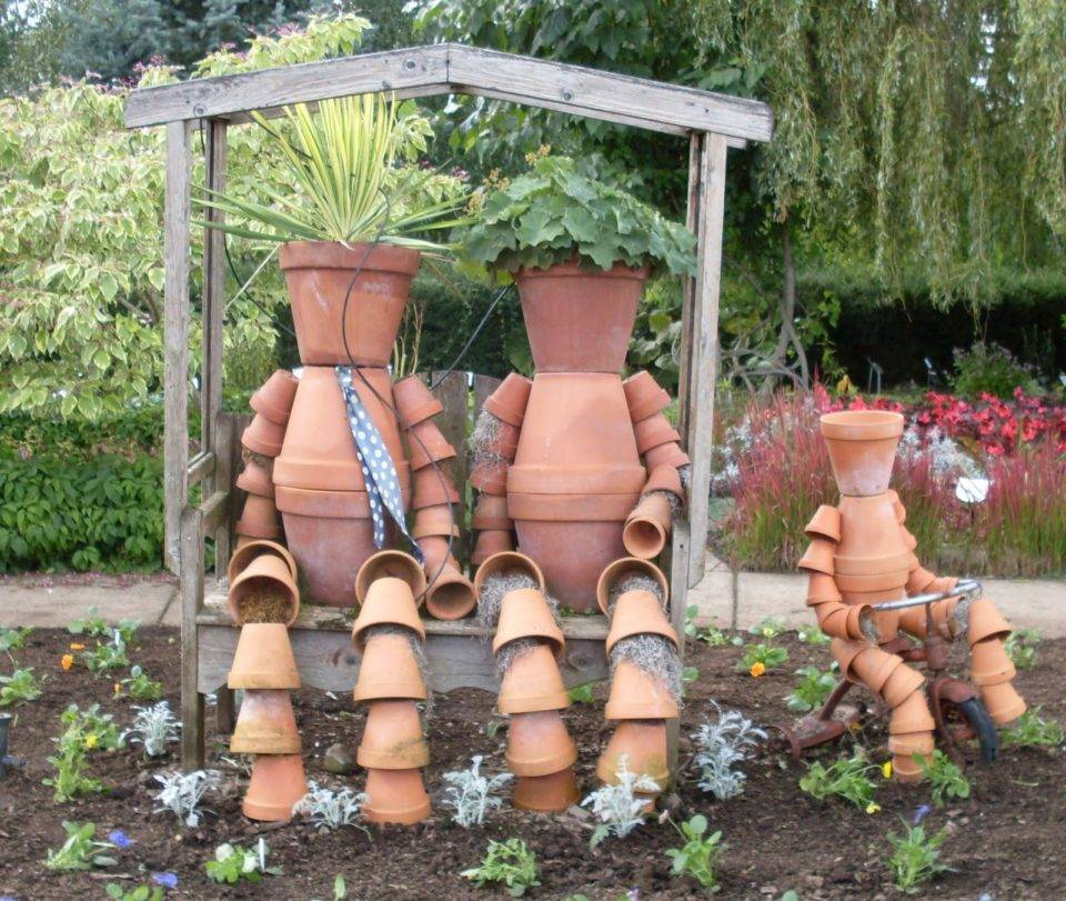 90 идей украшений для сада своими руками (фото)