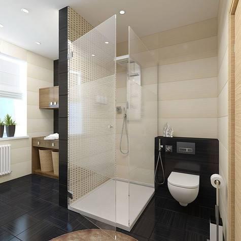 Дизайн ванной комнаты с душевой кабиной: 50 фото, идеи дизайна