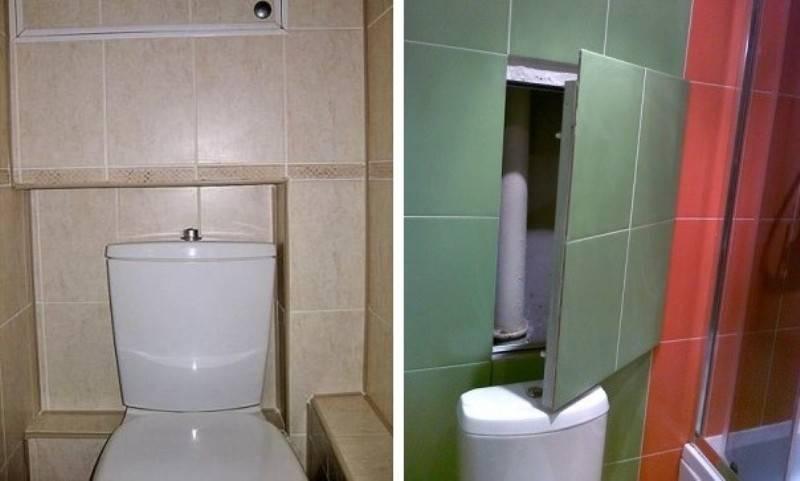 Как спрятать трубы в туалете — 27 фото популярных способов