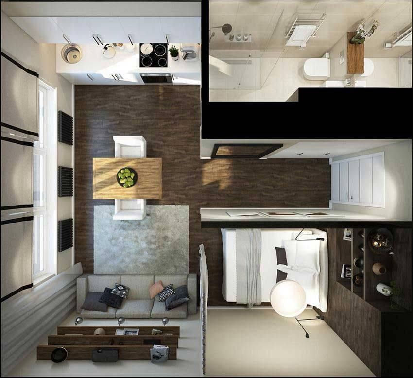 Планировка квартиры-студии 20-21 кв. м: секреты и важные моменты