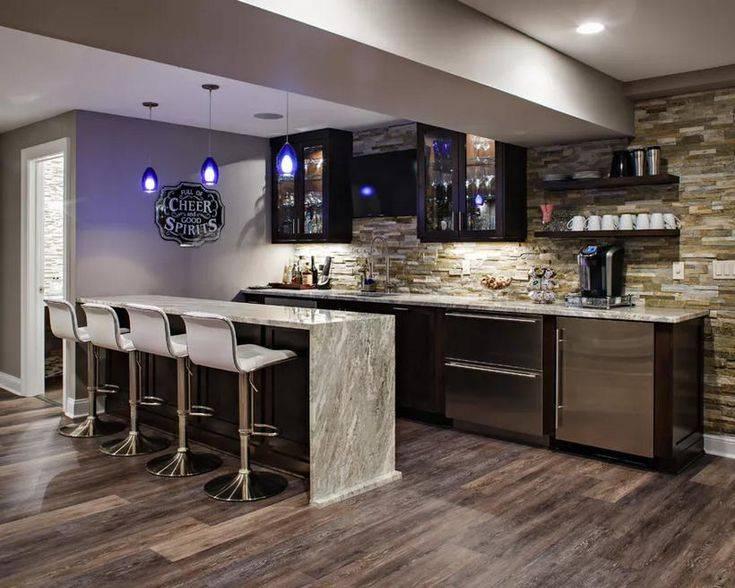 Кухня с барной стойкой: 118 фото + 7 видов дизайна