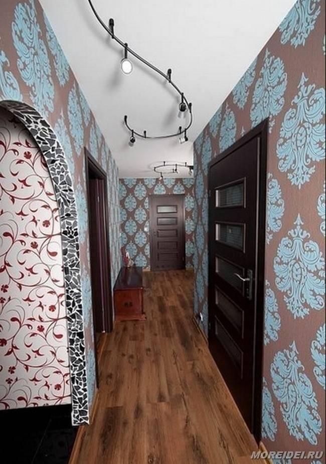 Дизайн комбинированных обоев для коридора: фото, особенности и способы комбинирования