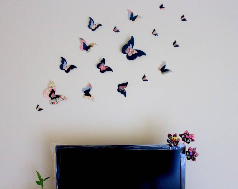 Своими руками декоративные бабочки: декор стен бабочками своими руками +60 фото идей – бабочки для декора (75 фото)