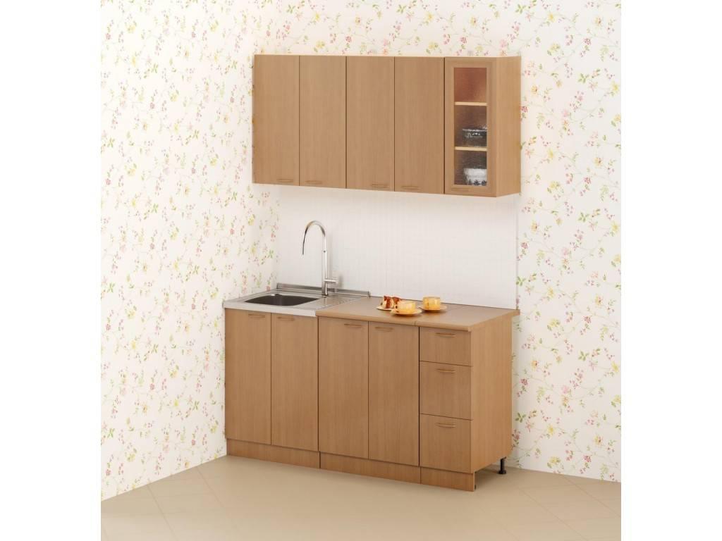 Кухни эконом-класса, кухонные гарнитуры и уголки: фото готовых решений