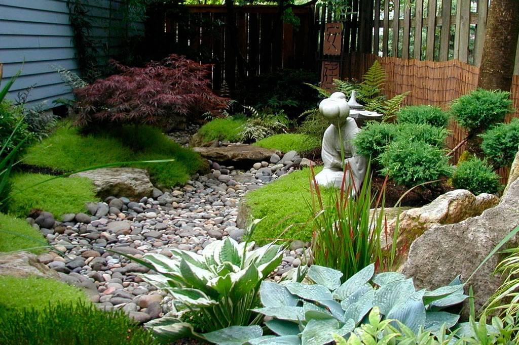 Сухой ручей своими руками в саду и на даче - пошаговое устройство