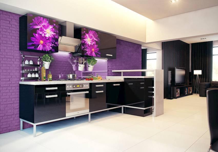 Кухня сиреневого цвета — необычные варианты сочетания цвета и современные решения дизайна в интерьерах на фото!