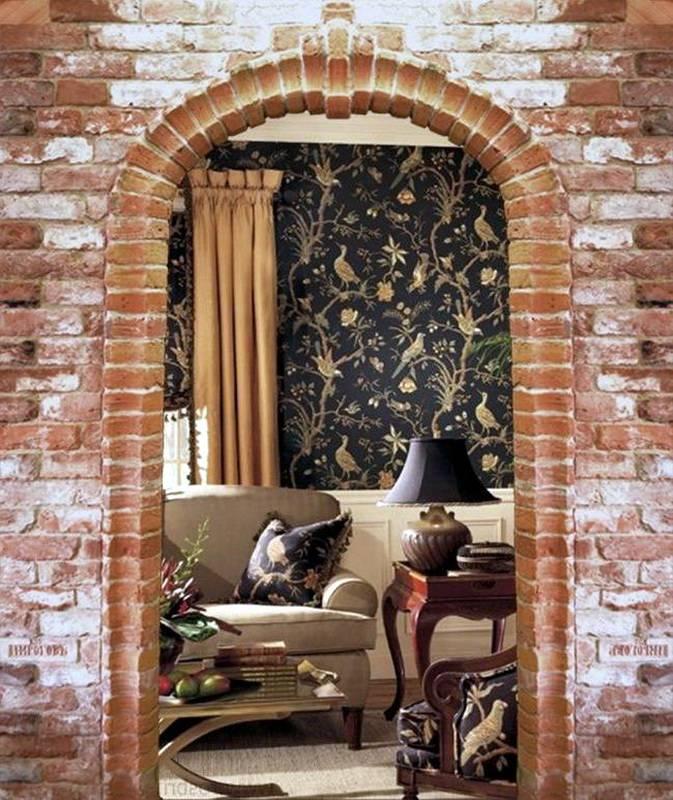 Отделка арки декоративным камнем +50 фото - «декор»