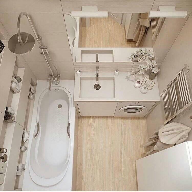 Ванная комната 3 кв. м. - особенности дизайна и планировки (75 фото)