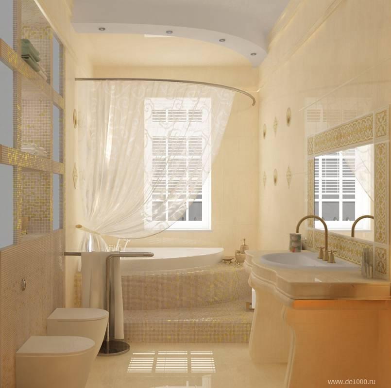 Ванная с окном в частном доме: практичные идеи оформления с фото