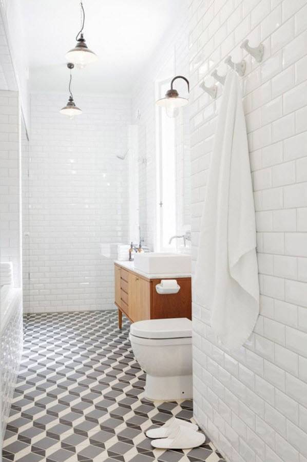 Черно-белая ванная - 105 фото лучших идей и подробное описание создания стильного оформления