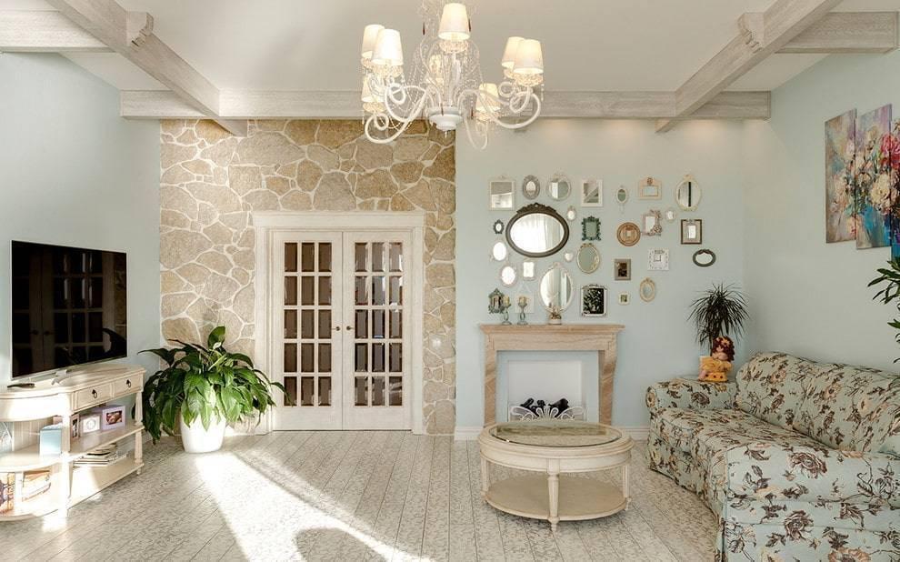 Гостиная в стиле прованс: 100+ лучших идей дизайна на фото