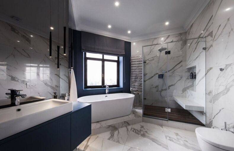 Дизайн ванной комнаты: современный стиль, модное оформление и красивые проекты в частном загородном доме с фотографиями   - 30 фото