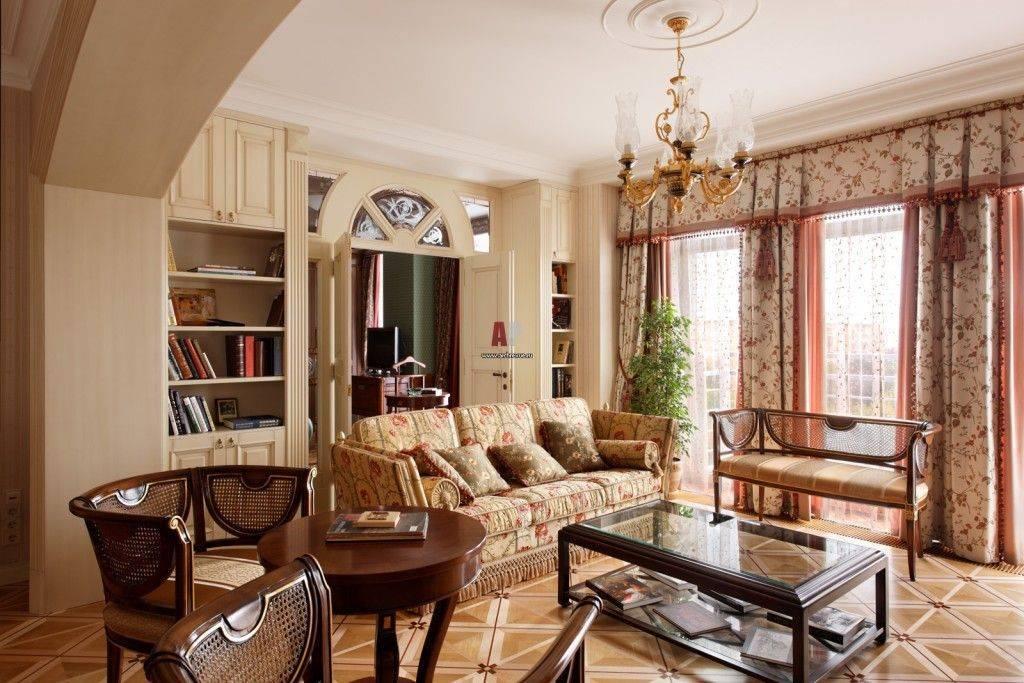 Оформление гостиной в английском стиле