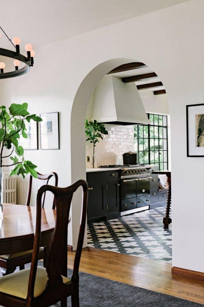 Арка на кухню вместо двери (58 фото): полуарка на кухню, красивые идеи и дизайн, как оформить дверной проем между гостиной и залом