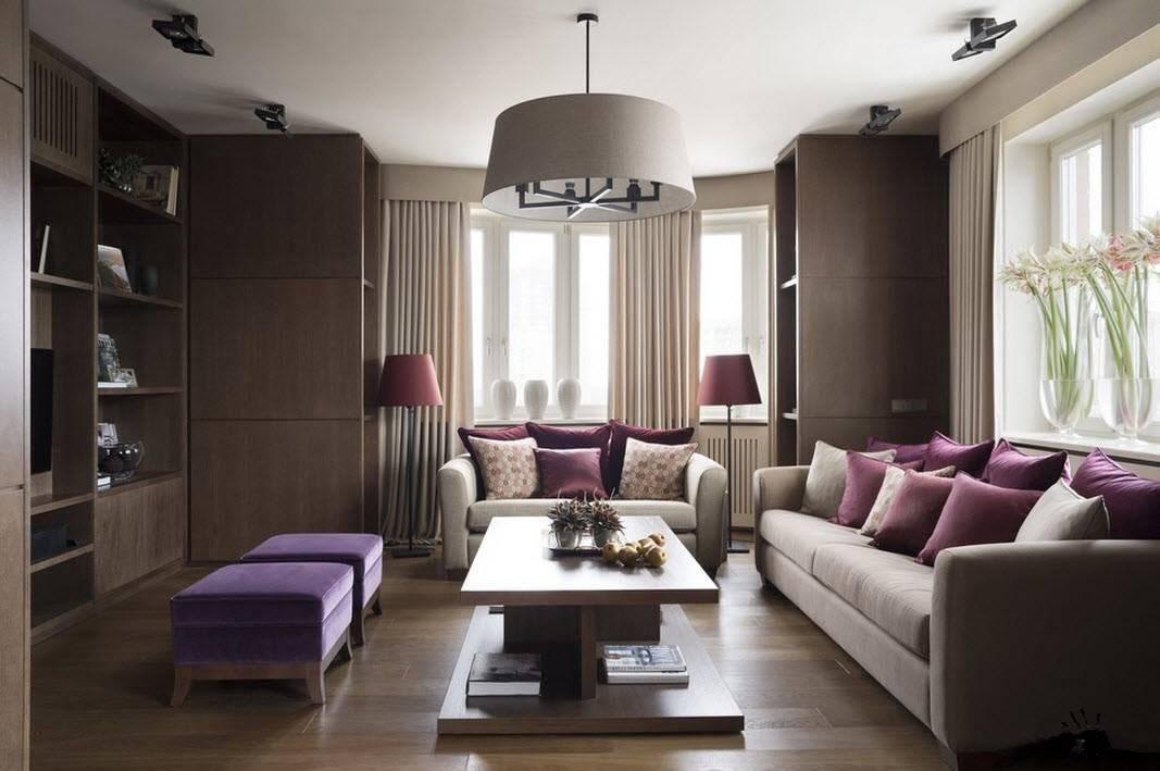 Интерьер зала 18 кв. м. (фото) в квартире - бюджетный вариант