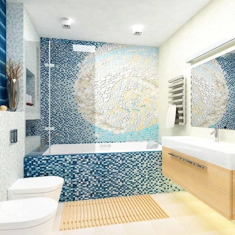 Плитка-мозаика для ванной комнаты: 67 самых эффектных идей дизайна