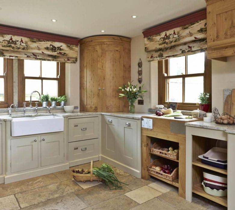 Дизайн кухни в стиле кантри — особенности интерьера +75 фото - «стили» » все о сауне