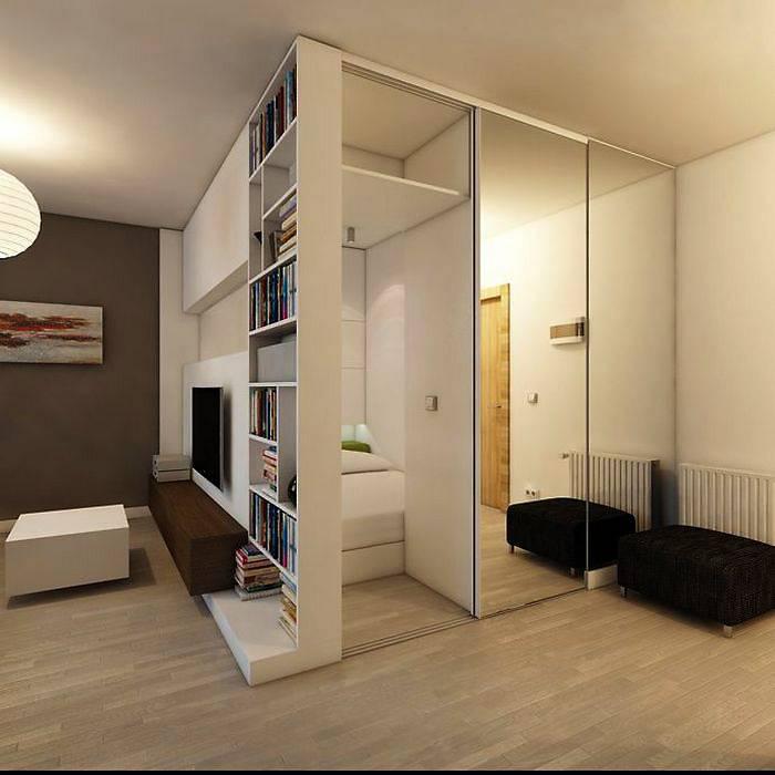 Зонирование однокомнатной квартиры: невозможное возможно!