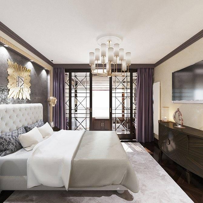 Спальня в стиле арт деко: цветовая гамма, отделка и обустройство
