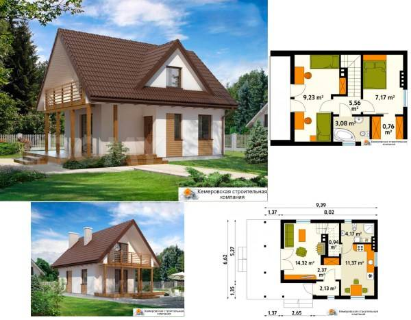 Проекты домов с мансардой | хаус эксперт