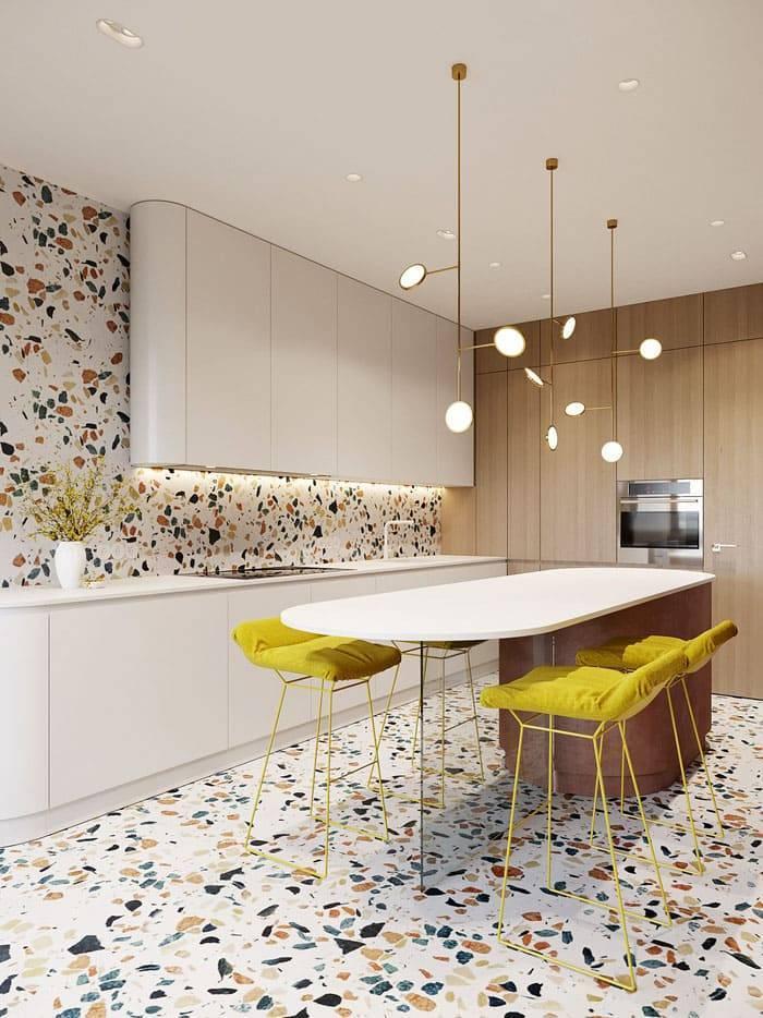 Дизайн плитки на кухне: 75 стильных идей оформления стен и пола