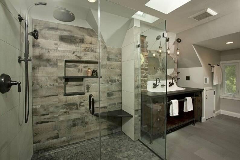 Ванные лофт: 120 фото стильных и эффективных идей организации дизайна интерьера ванной комнаты