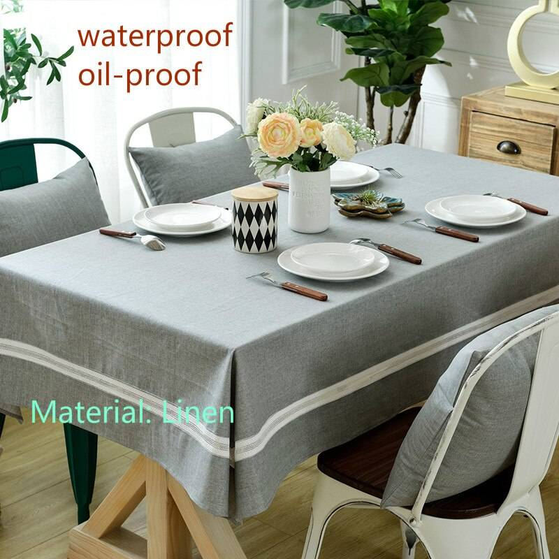 Скатерть на стол для кухни, варианты формы, размеров и материала