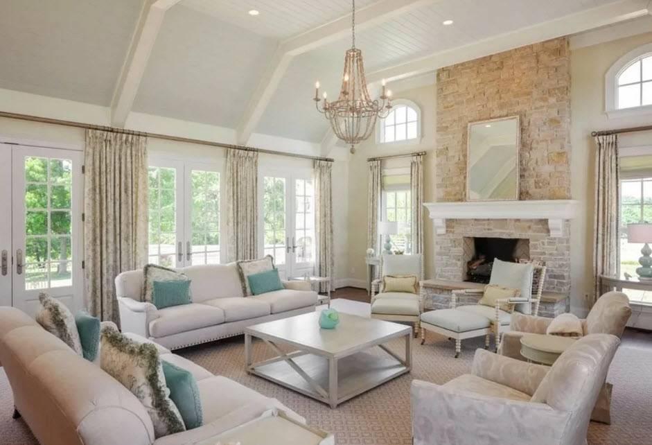 Дизайн гостиной вдоме загородом— 25 фото вразных стилях