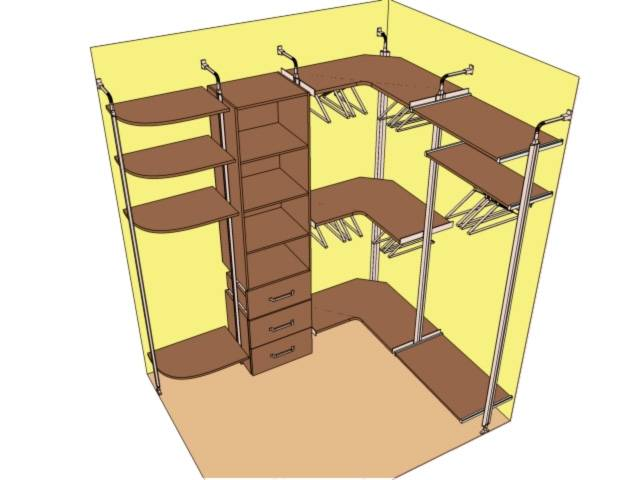 Преимущества и дизайн маленьких гардеробных комнат
