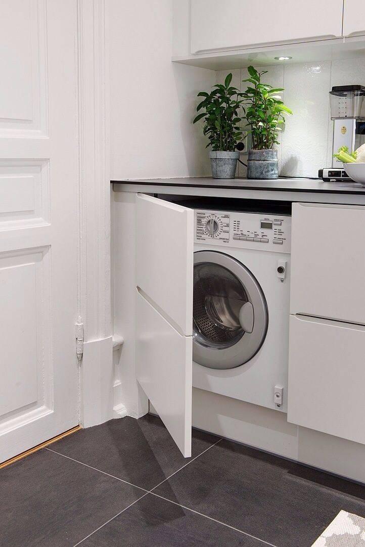 Можно ли поставить стиральную машину под столешницу?