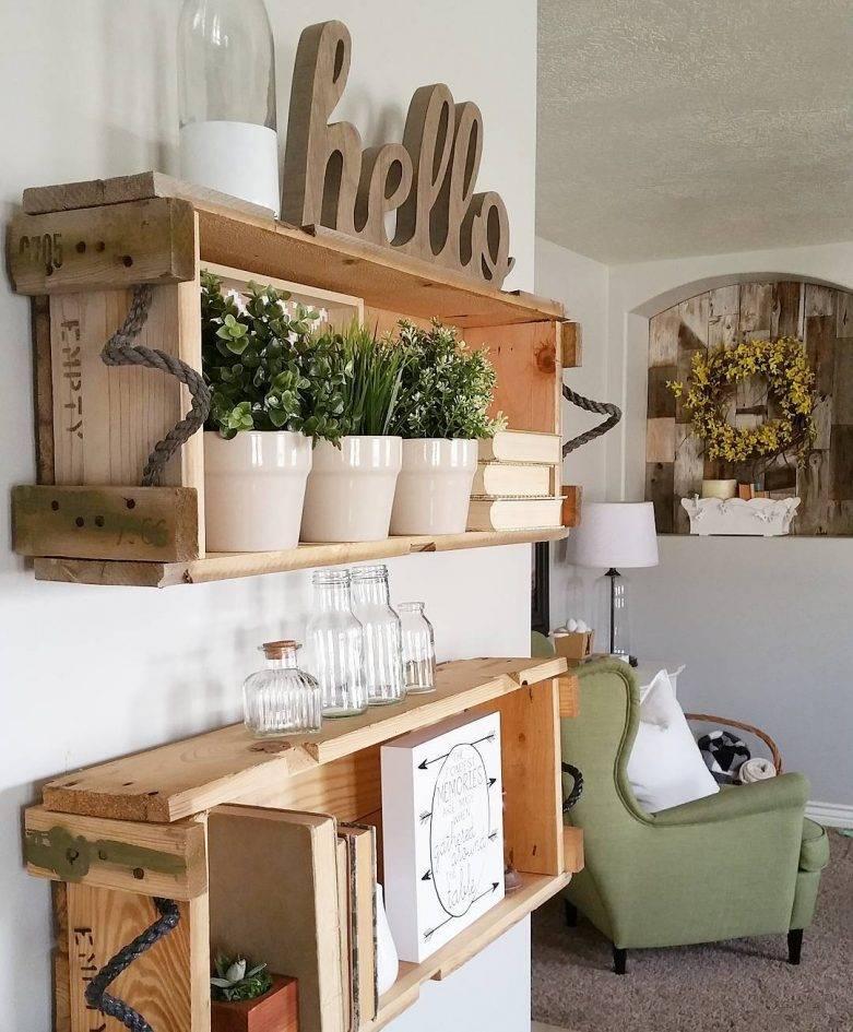 Деревянные ящики в интерьере: видео-инструкция как сделать своими руками, особенности декоративных изделий для цветов, хранения, цена, фото