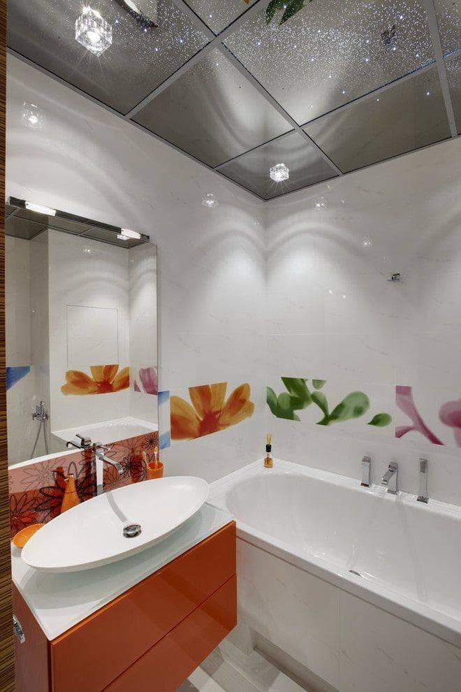 Подвесной потолок в ванной комнате - выбор и монтаж